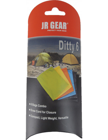 JR GEAR DITTY BAG 6 ASSORTED 6-PACK